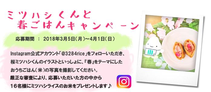 Instagram ミツハシくんと春ごはんキャンペーン